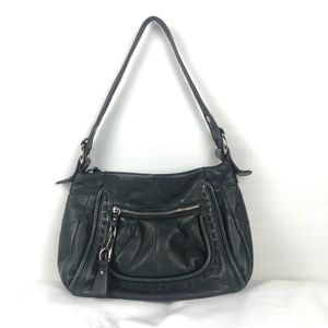 B. Makowsky Black Leather Bag
